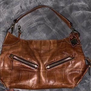 dooney&bourke brown leather purse